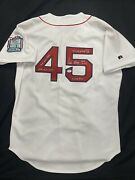 Pedro Martinez Signed Authentic Russell Red Sox Stat Jersey Psa Witness