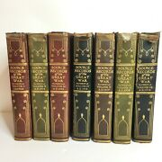 1923 Antique Book Set 7 Vol. Source Records Of The Great War Registered Edition