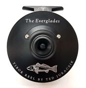 New Tibor Everglades In Frost Black With Redfish Engraving 7-9 Wt Fly Reel