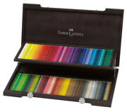 Faber-castell Polychromos Pencils Deluxe Wood Box Set Of 120 - Assorted Colors