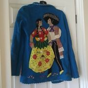 Antique Vintage Collectible 100 Wool Mexican Lopez Jacket