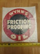 Vintage Original Wynnand039s Friction Proofing Water Decal Racing Hot Rod 9.5 X 9.5
