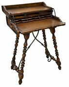 11226-401 Theodore Alexander Leather Embellished Trunk Style Campaign Desk