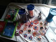Disney Infinity Lot 54 Power Discs Bases Large Collection Rare With 3 Games