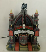 Spooky Town Lemax Mortis Theater Fantastic Condition
