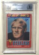 Terry Bradshaw 1971 Topps 156 Signed Authentic 📈 Rookie Card Steelers