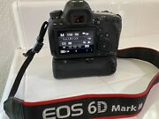 Canon Eos 6d Mark Ii 26.2mp Digital Slr Camera Body With New Battery Grip