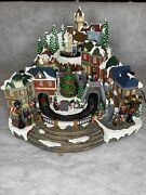 Christmas Animated Winter Musical Village/train 8 Songs