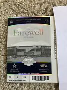 Dallas Cowboys V Ravens Ticket And Schedule Farewell Final Game Texas Stadium 2008