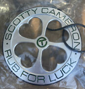 Scotty Cameron Circle T Tour Rub For Luck Four Leaf Clover Bag Tag - -new