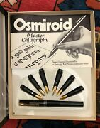Vintage Osmiroid Deluxe Calligraphy Set - 22 Carat Gold Plated Made In Uk- Nice