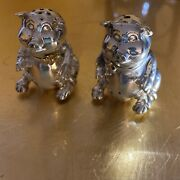 Tiffanyandco Gold Andsilver Salts And Pepper Shaker Pigs