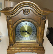 Vintage Howard Miller 612-365 Triple Chime Mantel Clock Tested And Working W/ Key