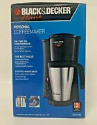 New Black And Decker Dcm18s Brew And039n Go Personal Coffee Maker Stainless Steel Nib