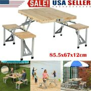Folding Outdoor Table Beach Set Siamese Tables And Chairs Set Party Camp Bbq