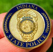 🔥authentic Indiana State Police Challenge Coin Trooper Coin Limited 🔥🔥🔥