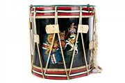 Rare Antique 1800and039s British English Military Drum With Clear Glass Table Top