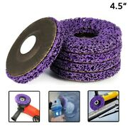 4-1/2 Poly Strip Disc Metal Paint Rust Removal Clean Wheel For Angle Grinder