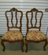 Ethan Allen Tuscany Dining Side Chairs Splatback Carved 32-6302 Ca 2003 Set B