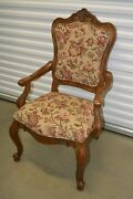 Ethan Allen Tuscany Dining Armchair Augustine Carved 32-7401 Circa 2004 A