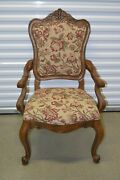 Ethan Allen Tuscany Dining Armchair Augustine Carved 32-7401 Circa 2004 B