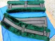Horse Or Mule Fleece Harness Saddle And Breast Collar Pads Set Amish Made Green
