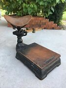 Antique Fairbanks Cast Iron Counter Scale Vintage Hardware General Store Brass