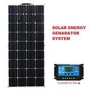 Flexible Solar Panel Energy Generator Power Bank Camping Car Battery Charger