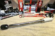 Snap On Qd3r1600 1/2 Dr Adjustable Click Ratchet Torque Wrench 320andndash1600 In-lb