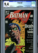 Batman 428 1988 Dc Cgc 9.4 White Pages Part 3 Of Death In The Family