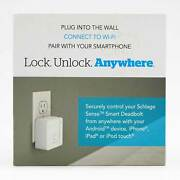 Open Box Schlage Br400 Sense Wi-fi Adapter - 2.4ghz Wi-fi Only In White