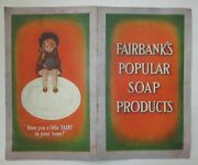 Antique Fairbanks Gold Dust Twins Plus Other Soap Products Advertising Booklet