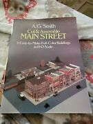 A.g. Smith Cut And Assemble Main Street Full-color Buildings Ho Scale 1983 Nice