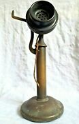 Western Electric Usa Candlestick Telephone Copper Brass Vintage 1916 Antique