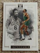 2016-17 Nba Panini Impeccable Bill Russell /25 Ssp Silver Holo 1st Year. Celtics