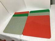 Lego Duplo Large Base Plates Peg 24 X 24 Dot-15x15 Red, Green And Grey Set Of 6