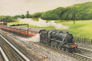 England   -   44806 Takes Water From Lostock Troughs  Painting