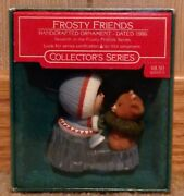 Vintage Hallmark Frosty Friends Series 7th 1986 Christmas Ornament Mint In Box