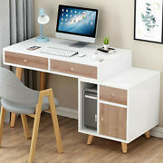 Computer Desk Home Office Desk With Drawer Study Table Workstation With Cabinet