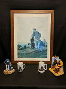 Norman Rockwell Outward Bound/looking Out To Sea Lithograph,figurines, Mugs