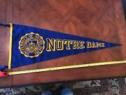 Vintage 1950's Notre Dame University Wool Pennant 36 Inches
