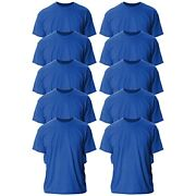 Gildan Menand039s Ultra Cotton T-shirt Style G2000 New New Royal 10-pack X-large