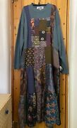 Donna Jessica Thermal Knit Maxi Dress 2 Teal Nwt With Various Prints