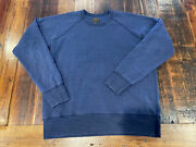 National Athletic Goods Blue Large 42 Made In Canada Crew Neck Sweatshirt