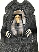 Gemmy Animated Tombstone Halloween Talking Singing Skeleton Prop From 2006/7