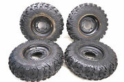 14 Polaris Sportsman 400 Ho 4x4 Front And Rear Wheels Rims And Tires 25x8-12