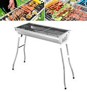 Fold Barbecue Charcoal Portable Grill Stove Stainless Steel Bbq Patio Outdoor