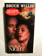 Color Of Night Vhs Bruce Willis, Jane March Exclusive Directors Cut