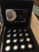 Rare 2009 United Kingdom 40th Anniversary Fifty Pence Silver Proof Collection