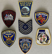 Police Department Fire Dept. And Military Patches Boston New York San Francisco +